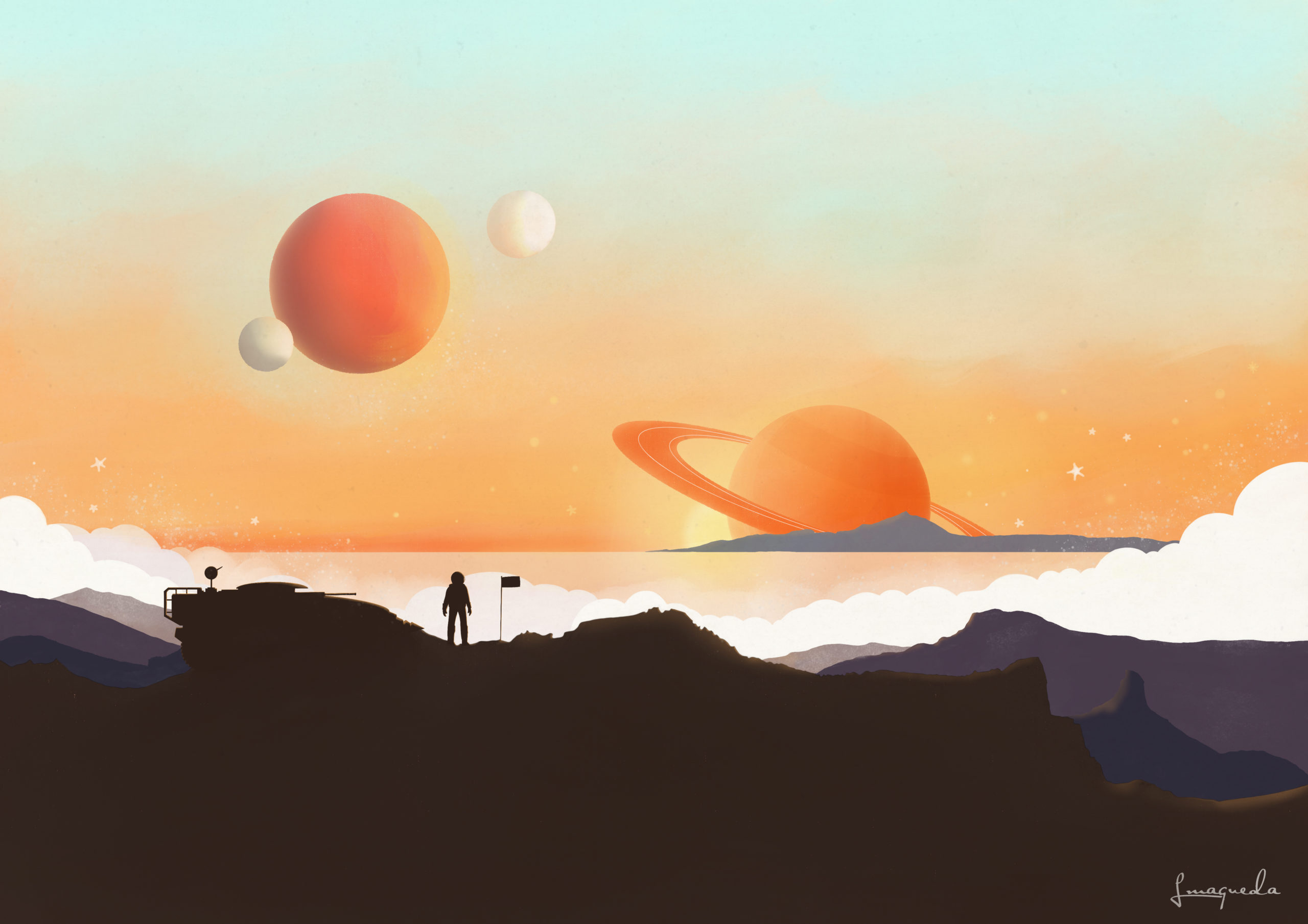 Planatary Sunset